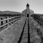 Very Old Church near Cochrane  Alberta