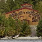 The Big House was constructed in homage to the traditional long houses of the Tsimshian First Nations.